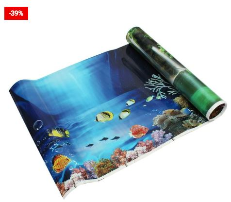 The Aquarium Background Double-Sided Poster